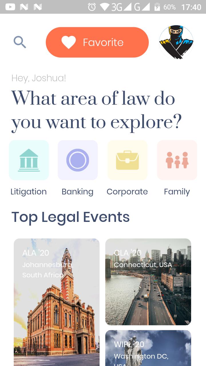 Law Event App