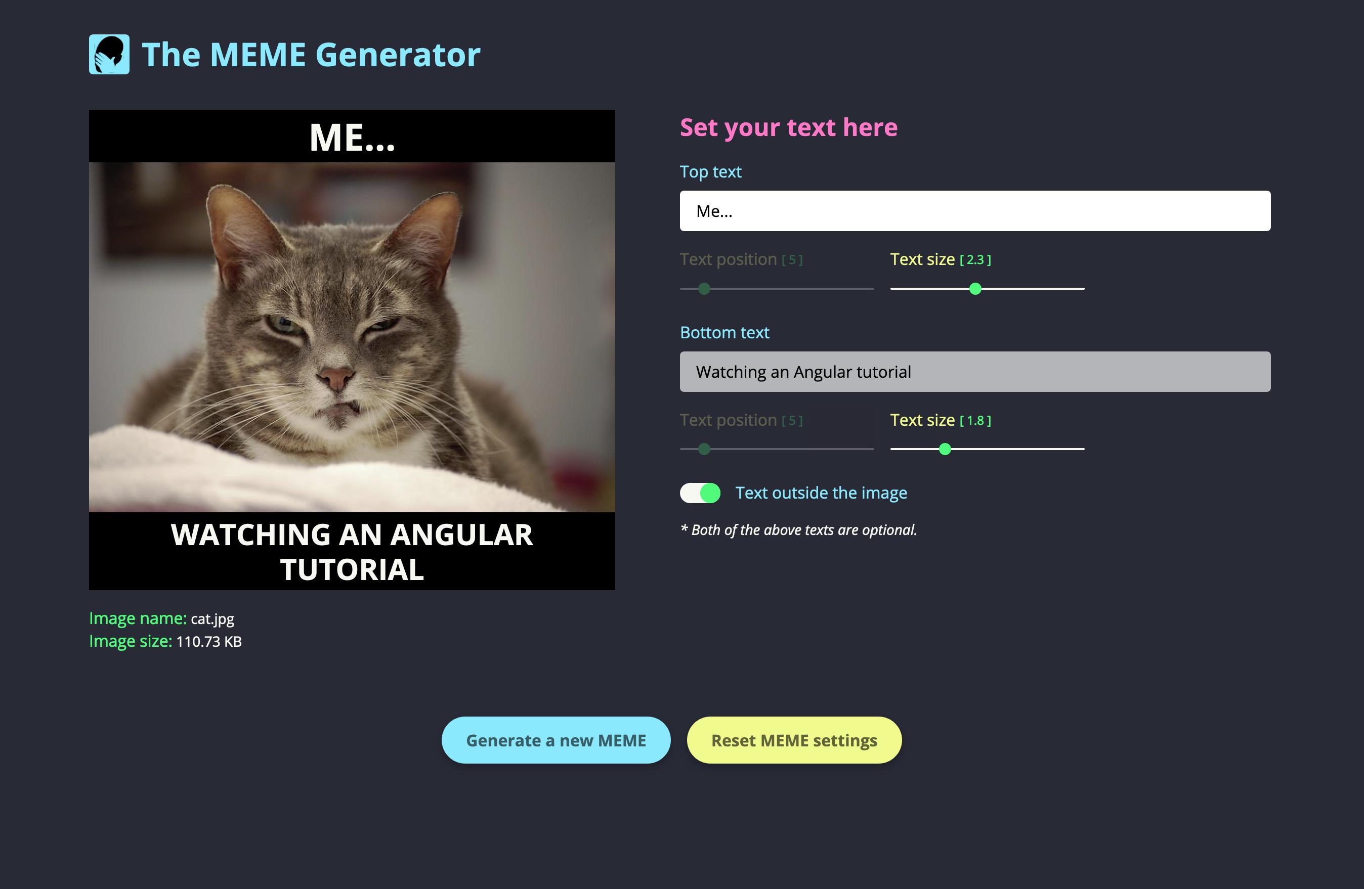 The MEME Generator